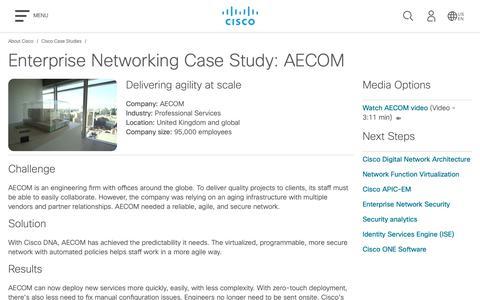 Screenshot of Case Studies Page cisco.com - Cisco Case Study: AECOM  - Cisco - captured May 10, 2019