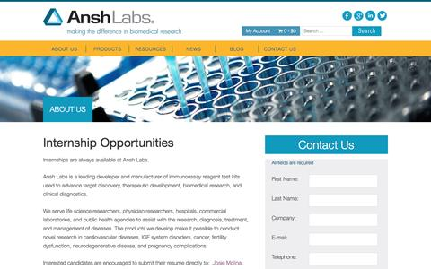 Screenshot of Jobs Page anshlabs.com - Careers | Ansh Labs - captured Dec. 25, 2015