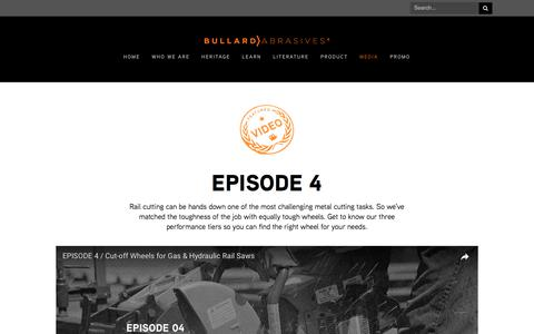 Screenshot of Press Page bullardabrasives.com - Media — Bullard Abrasives - captured June 3, 2017