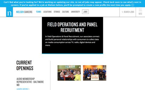 Field Operations & Panel Recruitment | Nielsen Careers