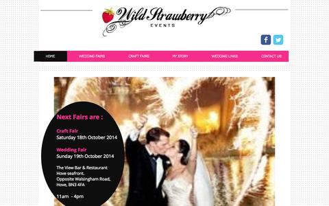 Screenshot of Home Page wildstrawberryevents.com - Wild Strawberry Events Wedding Fairs & Craft Fairs Sussex - captured Oct. 7, 2014