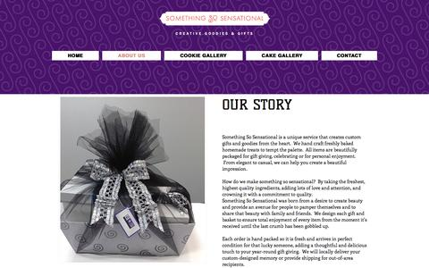 Screenshot of About Page somethingsosensational.com - www.somethingsosensational.com | ABOUT US - captured Dec. 13, 2016