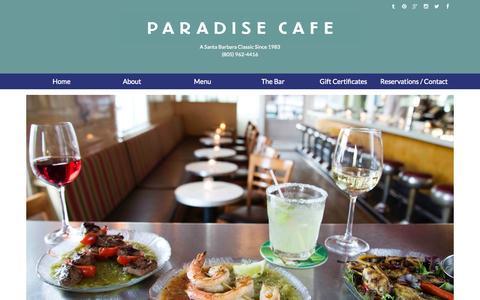 Screenshot of Home Page paradisecafe.com - Paradise Cafe - captured July 18, 2015