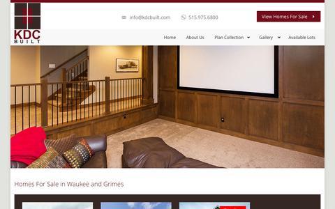 Screenshot of Home Page kdcbuilt.com - Waukee, Iowa Home Builder   Grimes, Iowa Homes For Sale   KDC Built - captured Feb. 12, 2016