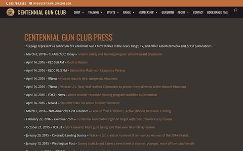 Screenshot of Press Page centennialgunclub.com - Press | Centennial Gun Club - captured July 16, 2018