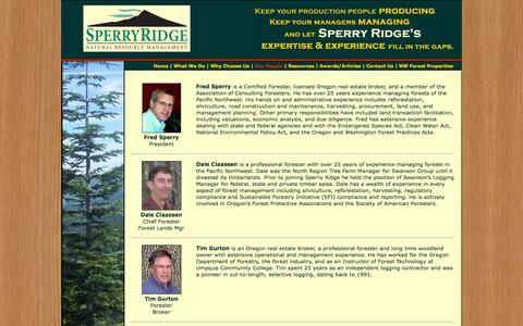 Screenshot of Team Page sperryridge.com - Sperry Ridge, Inc. - Your Choice for Natural Resource Management in the Pacific Northwest - captured Oct. 9, 2014