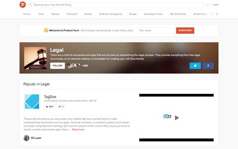 Legal topic on Product Hunt