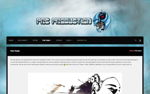 Screenshot of Team Page prcproduction.com - The Team | PRC Production - captured Sept. 26, 2014