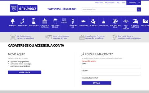 Screenshot of Login Page plusvendas.com.br - Login de Cliente - captured Sept. 25, 2018