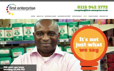 Screenshot of Press Page first-enterprise.co.uk captured Nov. 25, 2016