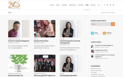 Screenshot of Blog rmdelaney.com - Blog - Delaney and Associates Inc. - captured Nov. 24, 2016