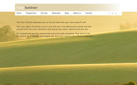 Screenshot of Home Page coreinstitute.nl - Home - Core Institute - captured Oct. 3, 2014