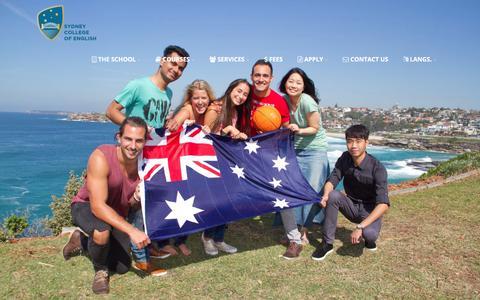 Screenshot of Home Page sce.edu.au - #1 English College | English Courses | Sydney College Of English - captured Oct. 23, 2017