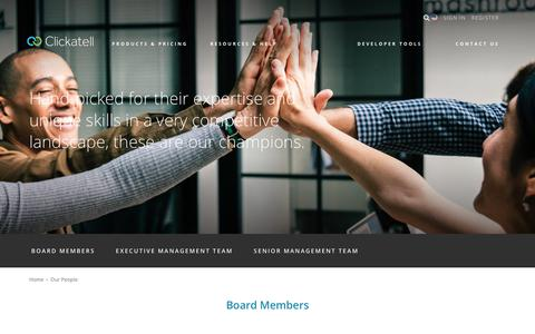 Screenshot of Team Page clickatell.com - Our People | Clickatell.com - captured Oct. 31, 2018