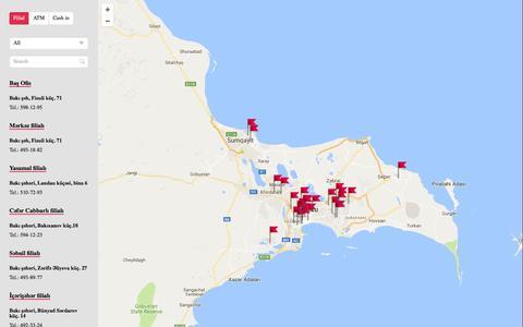 Screenshot of Maps & Directions Page kapitalbank.az - Filial vÉ™ ATMlÉ™r | Kapital Bank - captured Sept. 19, 2016