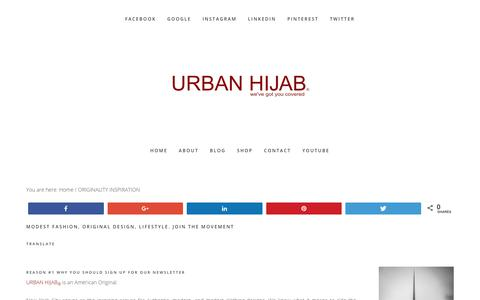 Screenshot of Signup Page urbanhijab.com - Originality Inspiration – Newsletter Sign up for URBAN HIJAB - captured Oct. 18, 2018