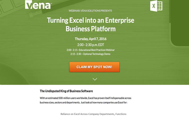 Using Excel as an Enterprise Business Platform