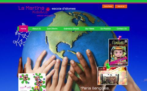Screenshot of Home Page lamartinaschool.com - la Martina School, Escola d'idiomes Reus, Tarragona, Cambrils - captured Sept. 26, 2014