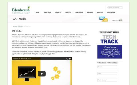 Screenshot of Press Page edenhousesolutions.co.uk - SAP Media - Edenhouse Solutions - captured Nov. 1, 2014