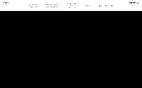 Screenshot of Home Page fuel-design.com - FUEL - captured Nov. 18, 2016