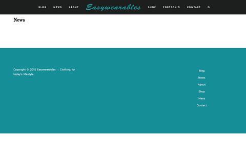 Screenshot of Press Page easywearables.com - News - captured Dec. 7, 2015