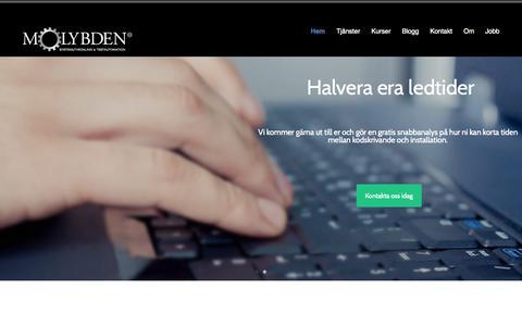 Screenshot of Home Page molybden.se - Molybden - captured Oct. 9, 2014