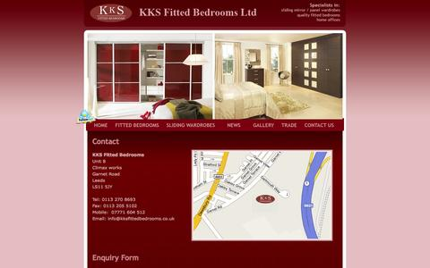 Screenshot of Contact Page kksfittedbedrooms.co.uk - Contact - captured Oct. 6, 2014