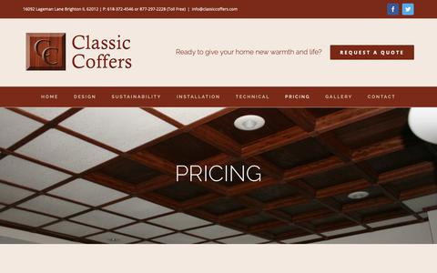 Screenshot of Pricing Page classiccoffers.com - Pricing | Classic Coffers - captured Sept. 28, 2018