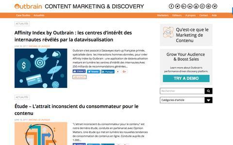 Screenshot of Blog outbrain.com - outbrain.com/fr | - Page 5 - captured Oct. 29, 2017