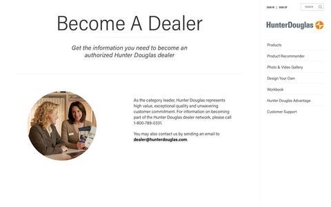 Become A Dealer | Hunter Douglas