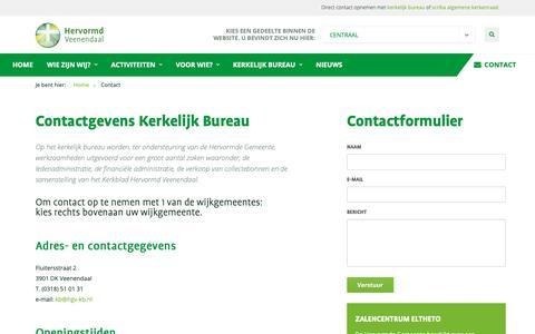 Screenshot of Contact Page herveen.nl - Contact -  Hervormd Veenendaal - captured Nov. 30, 2018