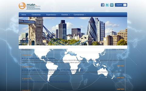 Screenshot of Press Page bmate.com.mx - At News   Bmate - captured Oct. 5, 2014