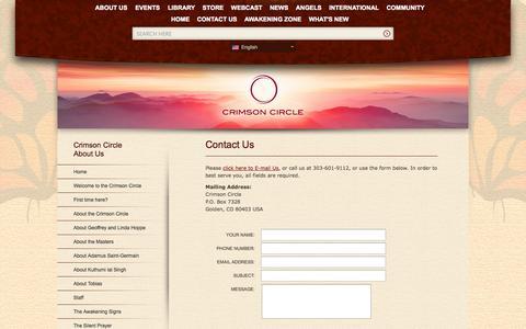 Screenshot of Contact Page crimsoncircle.com - Crimson Circle - Contact Us - captured Nov. 2, 2014