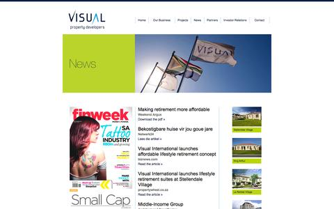 Screenshot of Press Page visualinternational.co.za - Visual International Propert Developers. News - captured Oct. 7, 2014