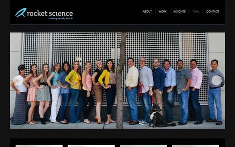 Screenshot of Team Page rocket201.com - Team | Rocket Science - captured Oct. 6, 2014