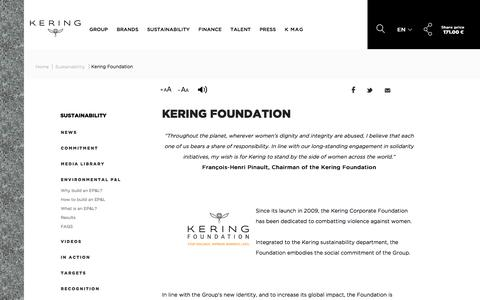 Kering Foundation | Kering
