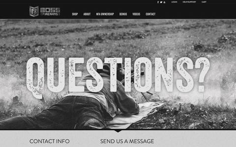 Screenshot of Contact Page bossfirearms.com - Boss Firearms - captured Nov. 3, 2014