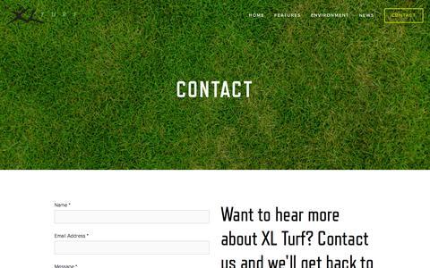 Screenshot of Contact Page xlturf.com - CONTACT — XL TURF - captured Feb. 5, 2016