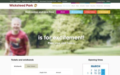 Screenshot of FAQ Page Pricing Page wicksteedpark.org - Wicksteed Park Opening Hours | Wicksteed Park Prices | - captured Feb. 23, 2016
