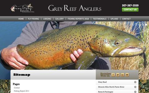 Screenshot of Site Map Page greyreefanglers.com - Sitemap - Grey Reef Anglers and Wingshooting - captured July 25, 2018