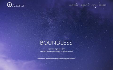 Screenshot of Home Page 1apeiron.com - 1Apeiron - captured Aug. 11, 2016
