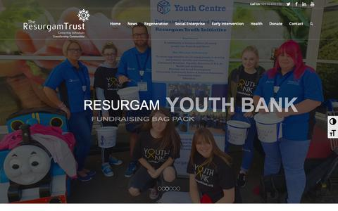 Screenshot of Home Page resurgamtrust.co.uk - Home - The Resurgam Trust - captured Oct. 20, 2018