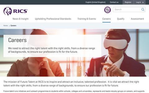 Screenshot of Jobs Page rics.org - Careers - captured Oct. 24, 2018