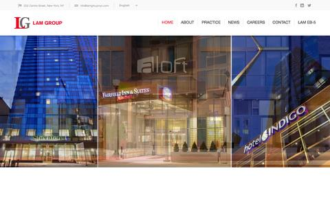 Screenshot of Home Page lamgroupnyc.com - Lam Group | - captured Jan. 23, 2015