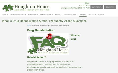 Screenshot of FAQ Page houghtonhouse.co.za - What is Drug Rehabilitation Addiction Recovery Center JHB Gauteng - captured Oct. 18, 2018