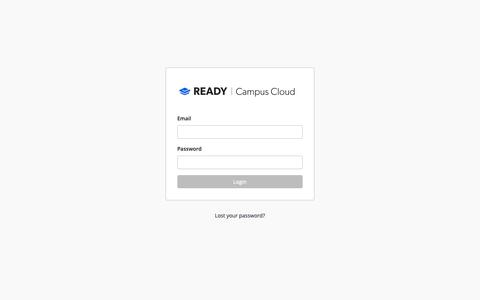 Screenshot of Login Page readyeducation.com - Ready Education | Campus Cloud - captured Oct. 9, 2018