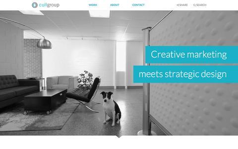 Screenshot of Home Page cullgroup.com - Grand Rapids Advertising Agency - Digital Marketing - Graphic Design - Website Development | Cull Group - captured Dec. 13, 2015