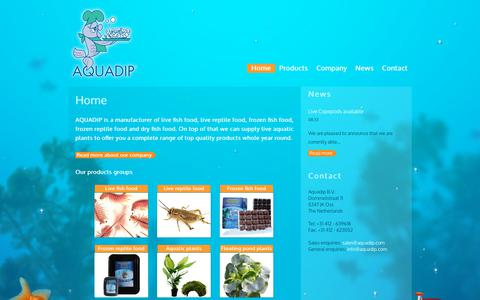 Screenshot of Home Page aquadip.nl - AQUADIP - captured July 30, 2018