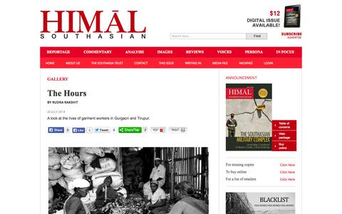 Screenshot of Hours Page himalmag.com - The Hours : Himal Southasian - captured Nov. 2, 2014
