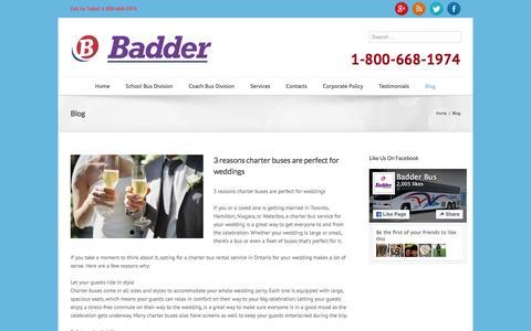 Screenshot of Blog badderbus.com - Blogs on coach and bus transportation | Badder Bus - captured Jan. 17, 2016